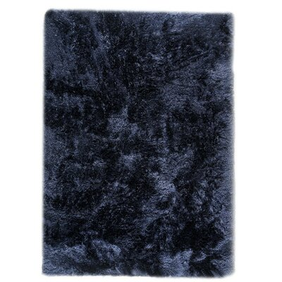Dubai Hand-Woven Navy Area Rug Rug Size: Rectangle 56 x 710