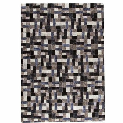Puzzle Hand-Tufted Gray Area Rug Rug Size: 52 x 76