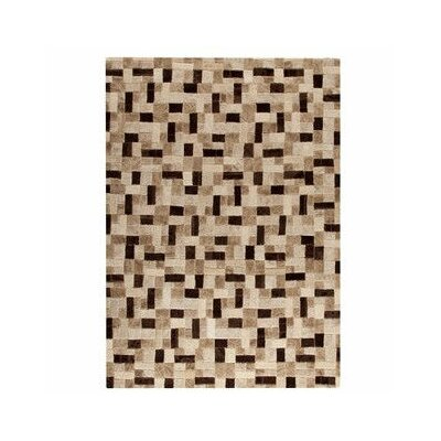 Puzzle Hand-Tufted Beige Area Rug Rug Size: 66 x 96