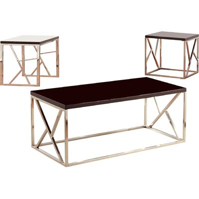 Elvin Retro 3 Piece Coffee Table Set