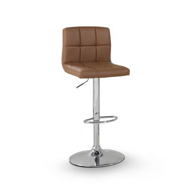 Pure Adjustable Height Swivel Bar Stool Upholstery: Camel