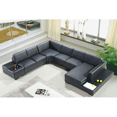 Artistant Sectional Upholstery: Black, Orientation: Right Hand Facing