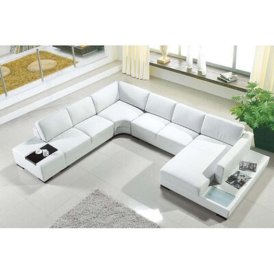 Artistant Sectional Upholstery: White, Orientation: Right Hand Facing
