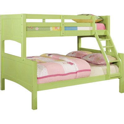Spectrum Twin over Full Bunk Bed Finish: Pistachio Green