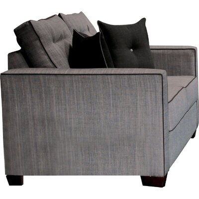 Urban Valor Tufted Loveseat Upholstery: Gray