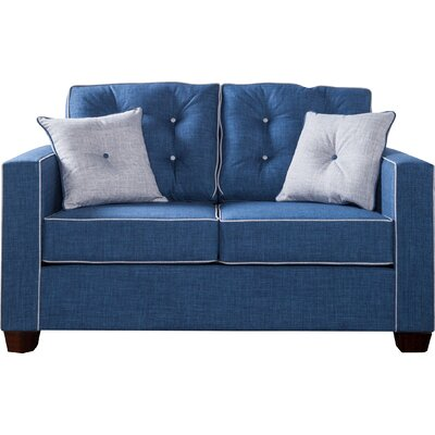 Urban Valor Tufted Loveseat Upholstery: Blue