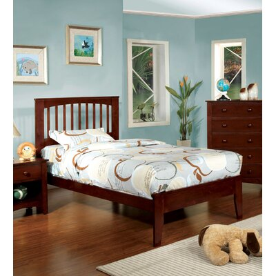 Alma Slat Bed Size: Full, Finish: Cherry