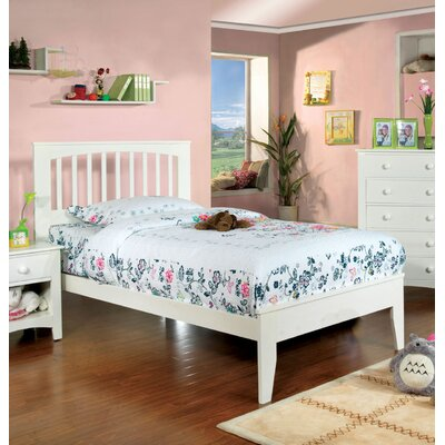 Alma Slat Bed Size: Full, Finish: White