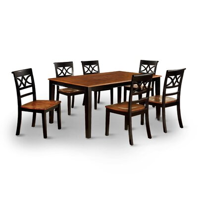 Exenia 7 Piece Dining Set Finish Black Cherry
