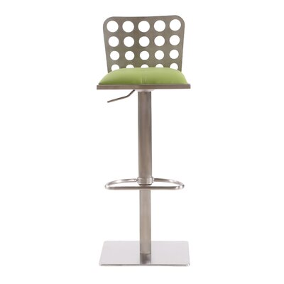Tuers Adjustable Height Swivel Bar Stool Color: Green