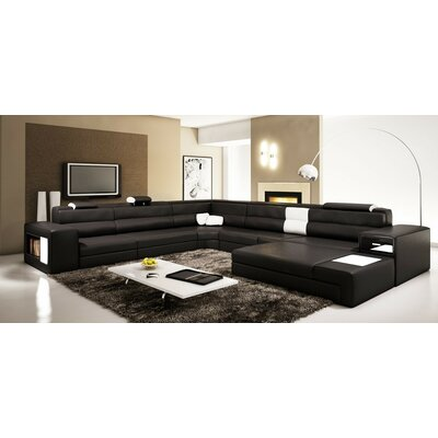 Camden Sectional Upholstery: Black