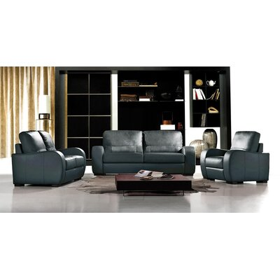Savana 3 Piece Leather Living Room Set