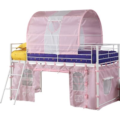Fantazia Twin Loft Bed Color: Pink