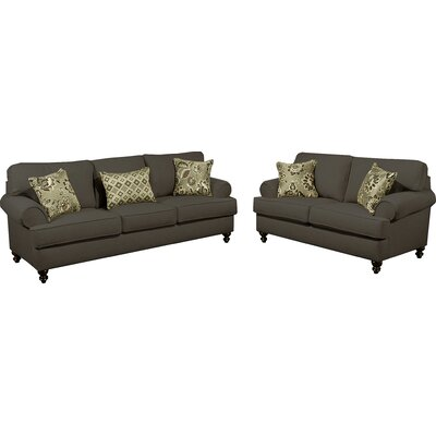 Hokku Designs CDI-TVUIFS 3QD-BTQI Linea Upholstered Sofa and Loveseat Set Upholstery