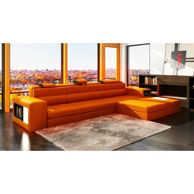 Ashley Esmarelda Sectional Upholstery: Orange