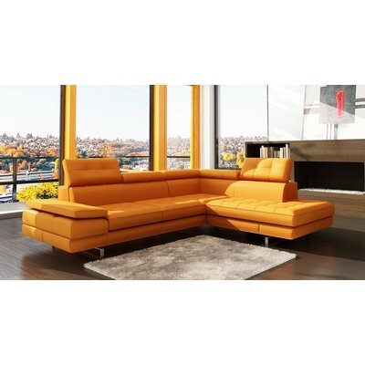Seville Sectional Upholstery: Orange