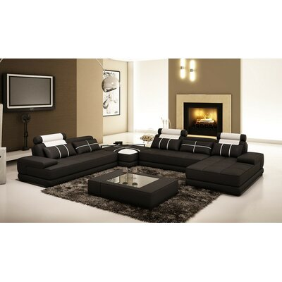 Basilica Sectional with Ottoman