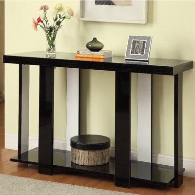 Arnulfo Console Table Color: Black