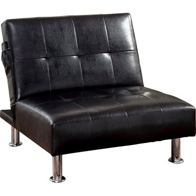 Perz Convertible Chair Upholstery: Black