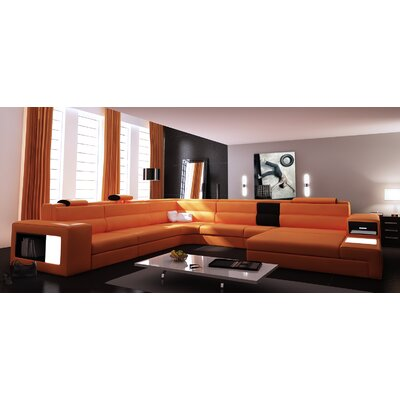 Camden Sectional Upholstery: Orange
