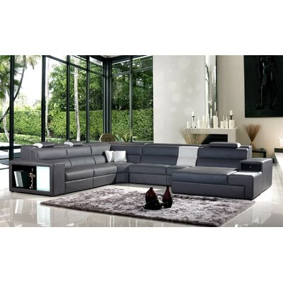 Camden Sectional Upholstery: Gray