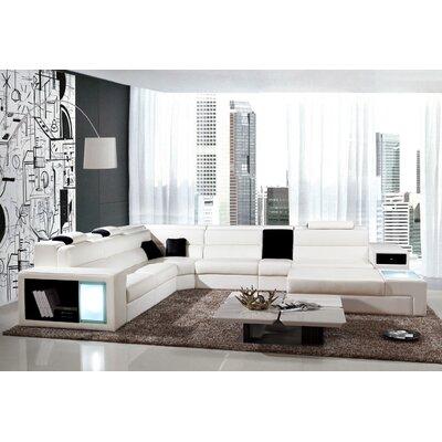 Camden Sectional Upholstery: White
