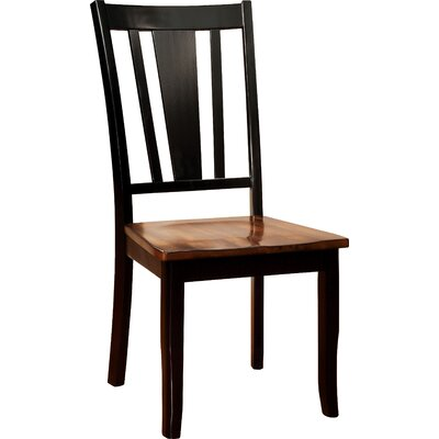Carolina Side Chair Finish: Black / Cherry