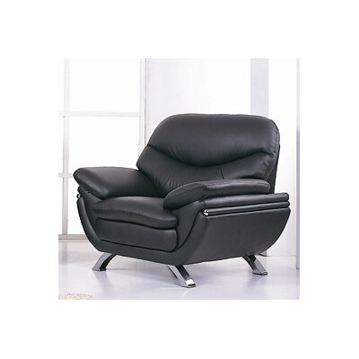 Jonus Lounge Chair Color: Black