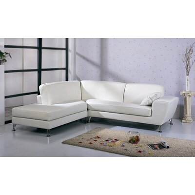 Julie Sectional Upholstery: White, Orientation: Right Hand Facing