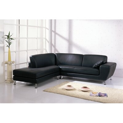Julie Sectional Upholstery: Black, Orientation: Left Hand Facing