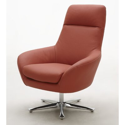 Navis Leather Lounge Chair Upholstery: Orange