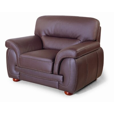 Leather Club Chair Color: Black