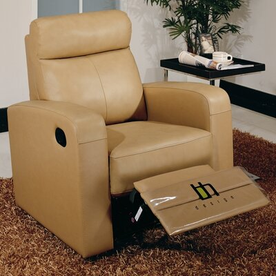 Leather Reclining Chair Upholstery: Taupe
