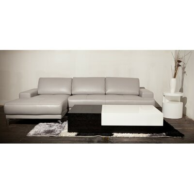 Leather Sectional Upholstery: Gray, Orientation: Left Hand Facing