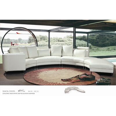 Carnelian Sectional with Ottoman
