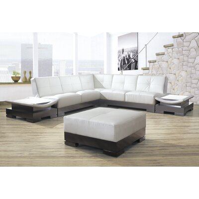Mirage Sectional Upholstery: White