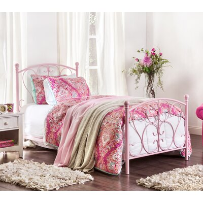 Kimberley Twin Platform Bed Color: Pink