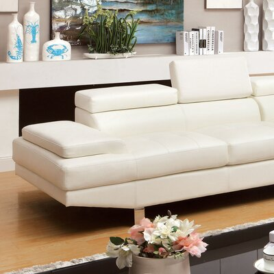 Dymitri Right Hand Facing Sectional Upholstery: White