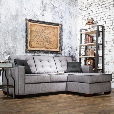 Urban Valor Sectional Upholstery: Gray
