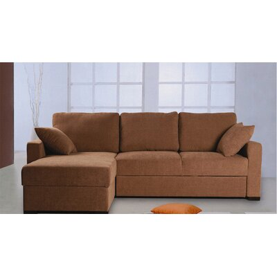 Incognito Sleeper Sectional Upholstery: Cocoa, Orientation: Left Hand Facing