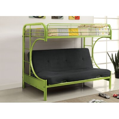 Prism Twin Futon Bunk Bed Color: Green