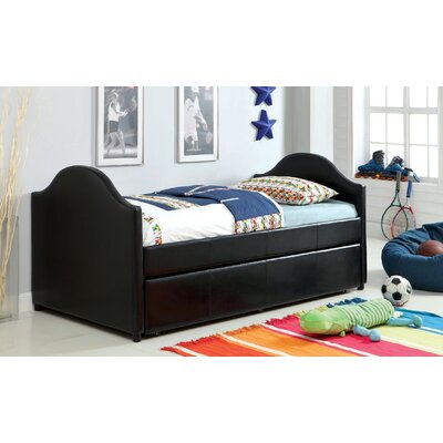 Rhine Twin Bed with Trundle Finish: Black