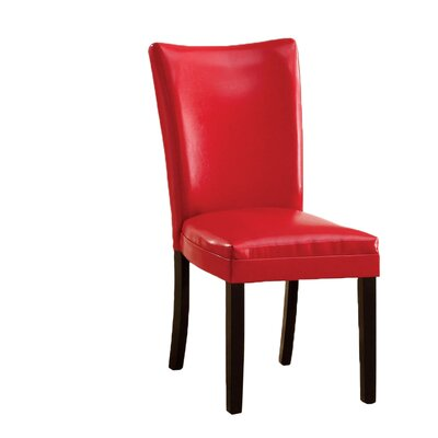 Lax Contemporary Side Chair Side Chair Upholstery: Red