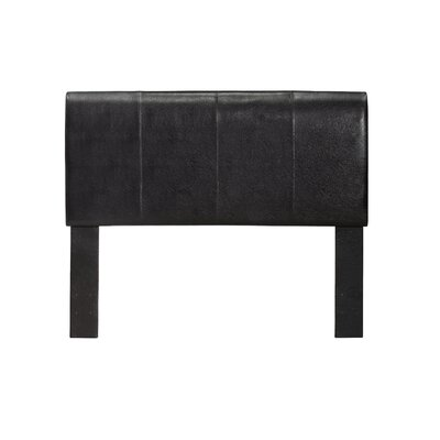 Kinnelon Upholstered Espresso Panel Headboard Size: Twin
