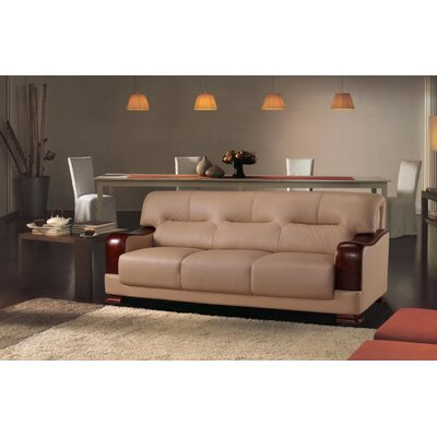 Tourmaline Leather 3 Piece Living Room Set Upholstery: Beige