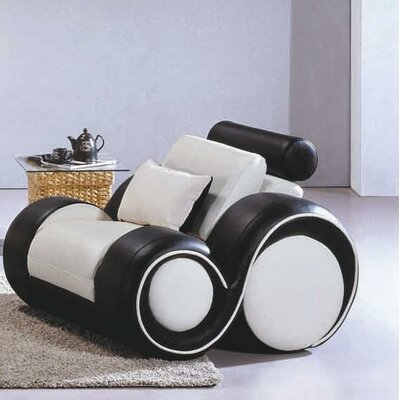 Hematite Lounge Chair Color: White / Black