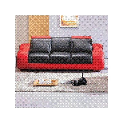 Rollingstone Leather Reclining Sofa Upholstery: Black / Red
