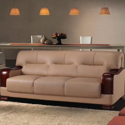 Tourmaline Leather Sofa Upholstery: Beige