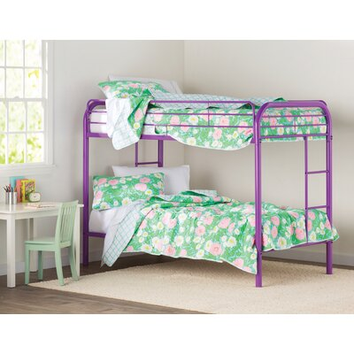 Prism Twin Bunk Bed Color: Purple