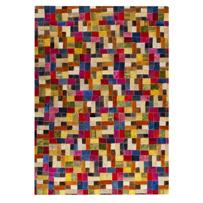 Puzzle Hand-Tufted Area Rug Rug Size: 52 x 76
